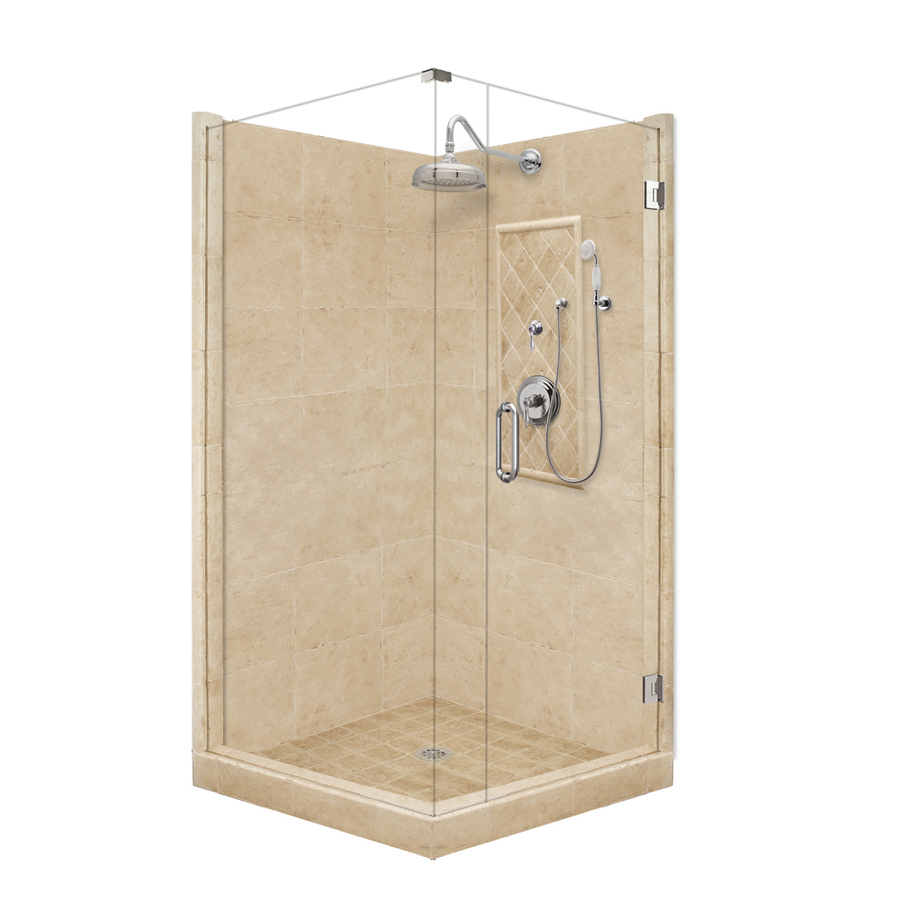 shop american bath factory panel medium fiberglass and corner vermont shower kit american bath factory