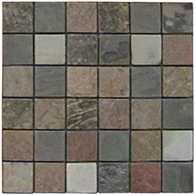 Surface Source 12-in x 12-in Multicolor Natural Stone Mosaic Square Wall Tile (Actuals 12-in x 12-in)