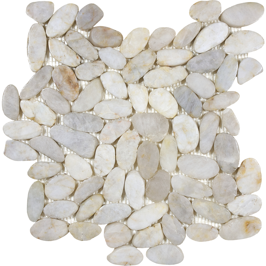 Shop Anatolia Tile 5 Pack River Rock Cream Flat Polished