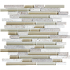 Anatolia Tile Cashmere Linear Mosaic Stone and Glass Travertine Wall Tile (Common: 12-in x 12-in; Actual: 11.88-in x 12-in)