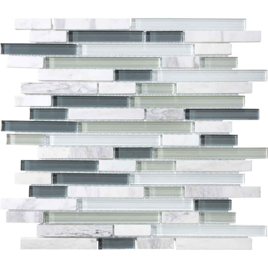 Kitchen Backsplash Tile At Lowes: Shop Allen + Roth Venatino Mixed Material Mosaic Wall Tile