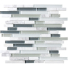 12-in x 14-in White Gray Tones Wall Tile