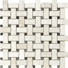 Anatolia Tile Ivory Travertine Basketweave Mosaic Travertine Wall Tile (Common: 12-in x 12-in; Actual: 12-in x 12-in)