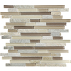 Dune Linear Mosaic Stone and Glass Quartz Wall Tile (Common: 12-in x 12-in; Actual: 11.92-in x 11.92-in)