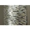 Ash Linear Glass Mosaic Wall Tile (Common: 12-in x 13-in; Actual: 11.87-in x 12-in)