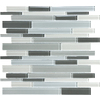 12-in x 14-in Gray Glass Wall Tile