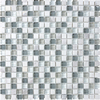 allen + roth Venatino Uniform Squares Mosaic Stone and Glass Marble Wall Tile (Common: 12-in x 12-in; Actual: 11.88-in x 11.88-in)