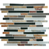 Graphite Mixed Material (Stone and Glass) Mosaic Random Wall Tile (Common: 12-in x 12-in; Actual: 11.88-in x 12-in)