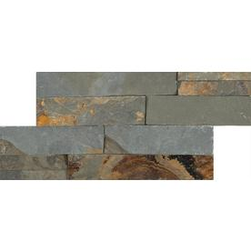 Anatolia Tile Oxide Ledgestone Slate Wall Tile (Common: 6-in x 12-in; Actual: 5.9-in x 11.81-in)