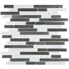 allen + roth Glacier Links Mixed Material (Stone/Glass/Metal) Mosaic Random Wall Tile (Common: 12-in x 12-in; Actual: 11.74-in x 12-in)