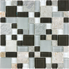 Anatolia Tile Cool Spring Mixed Material (Stone and Glass) Mosaic Random Wall Tile (Common: 12-in x 12-in; Actual: 11.73-in x 11.73-in)