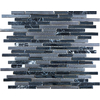 Anatolia Tile Indigo Porcelain Linear Mosaic Glass/Metal/Stone Marble Wall Tile (Common: 12-in x 12-in; Actual: 11.61-in x 12.55-in)