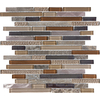 Anatolia Tile Copper Mountain Mixed Material (Stone/Glass/Metal) Mosaic Random Wall Tile (Common: 12-in x 12-in; Actual: 11.65-in x 11.88-in)