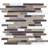 Anatolia Tile Stonegate Mixed Material (Stone and Glass) Mosaic Random Wall Tile (Common: 12-in x 12-in; Actual: 11.73-in x 11.73-in)