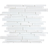 12-in x 14-in Alaskan White Mixed Material Wall Tile