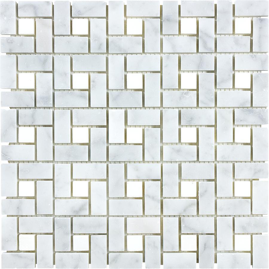 Shop Anatolia Tile Carrara Pinwheel Marble Natural Stone