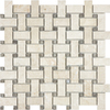 allen + roth Crema Luna Polished Marble Basketweave Mosaic Marble Wall Tile (Common: 12-in x 12-in; Actual: 12-in x 12-in)