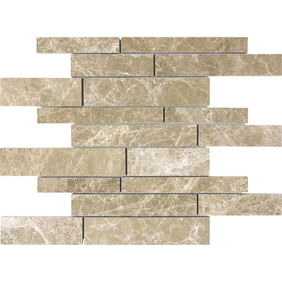 Shop Anatolia Tile Emperador Light Marble Natural Stone