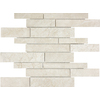 Anatolia Tile Crema Luna Marble Polished Natural Stone Mosaic Random Wall Tile (Common: 12-in x 12-in; Actual: 12-in x 12-in)