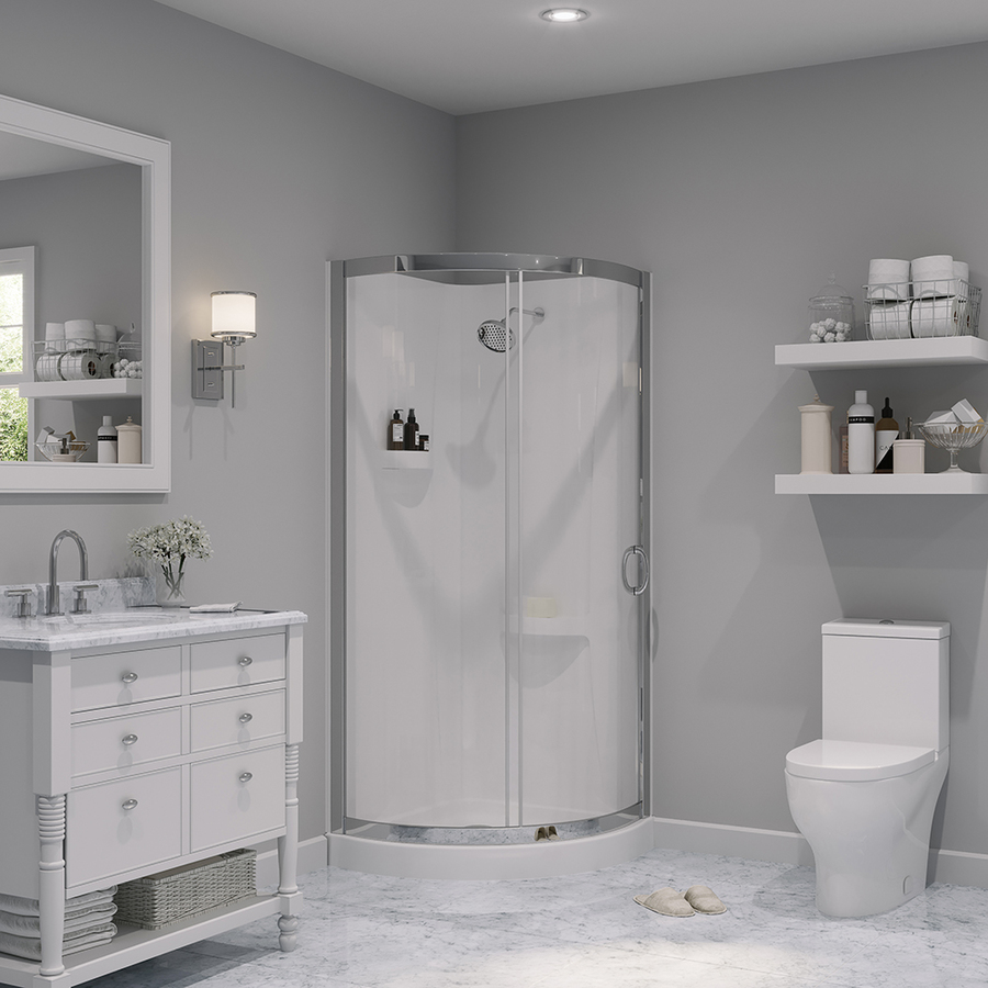 Piece Corner Shower Kit Actual 76 In X 31 In X 31 In At