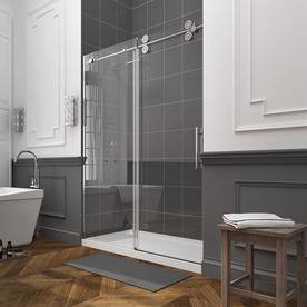 OVE Decors Sydney 56-in to 59.5-in W x 78.7-in H Frameless Sliding Shower Door