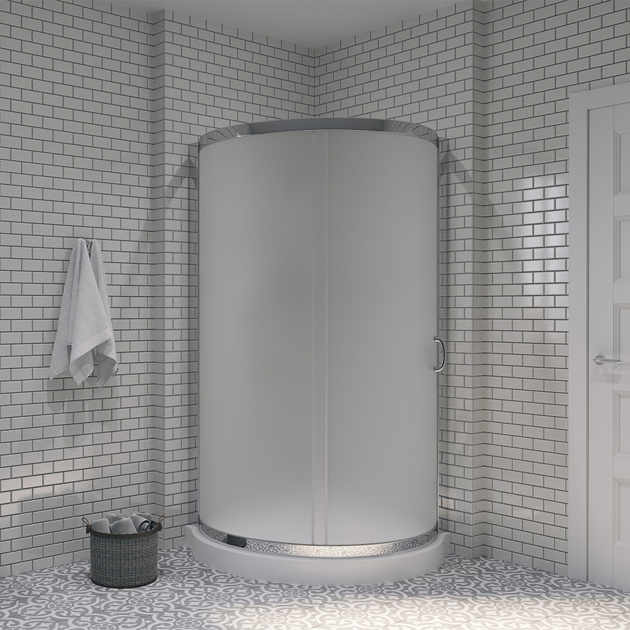 Piece Corner Shower Kit Actual 76 In X 36 In X 36 In At
