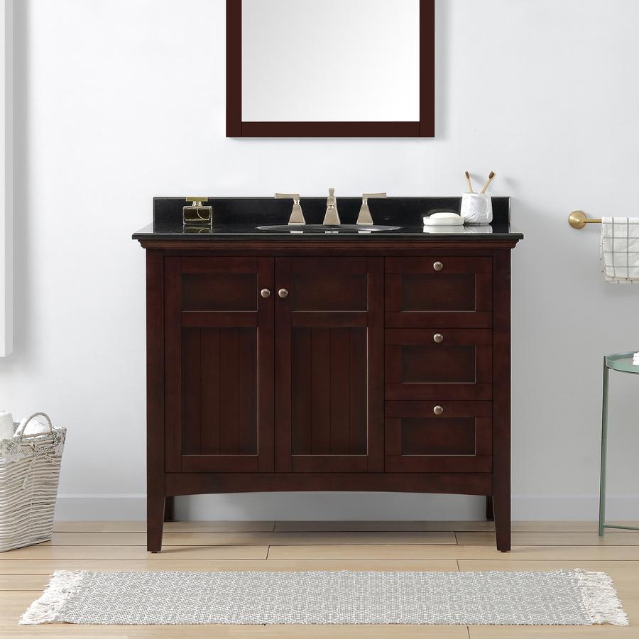 42 Bathroom Vanity With Top Shop Silkroad Exclusive Frances Cherry Undermount Single Sink