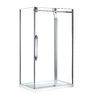 OVE Decors Antigua 46.25-in to 46.75-in W x 78.75-in H Frameless Sliding Shower Door