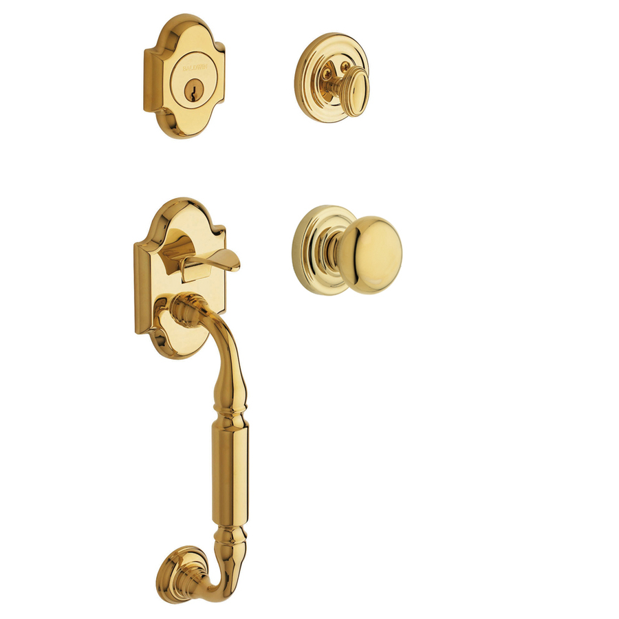 Shop BALDWIN Canterbury Polished Brass Residential Single Lock Door Handleset