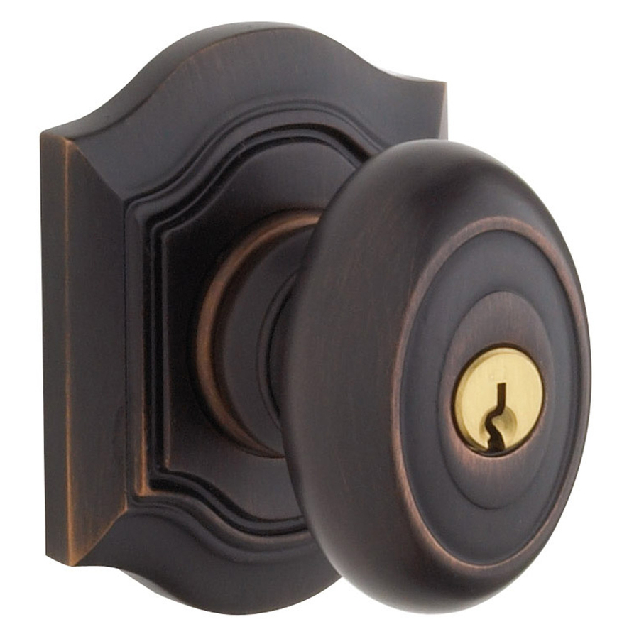 Shop BALDWIN Bethpage Venetian Bronze Egg Keyed Entry Door Knob At