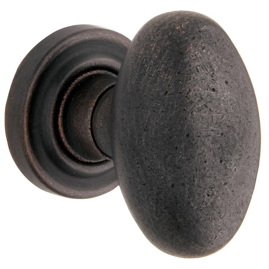 Shop Baldwin Distressed Oil Rubbed Bronze Egg Push Button