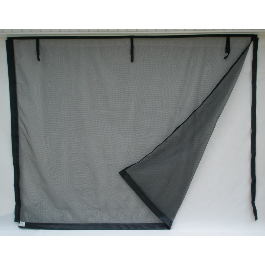Phantom privacy screen on large garage door images frompo Garage door screens home depot