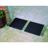 1.25-ft x 36-in Aluminum Threshold Doorway Wheelchair Ramp