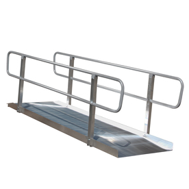 4-ft x 36-in Aluminum Solid Entryway Wheelchair Ramp