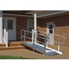 8-ft x 36-in Aluminum Solid Entryway Wheelchair Ramp