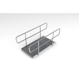12-ft x 36-in Aluminum Modular Entryway Wheelchair Ramp