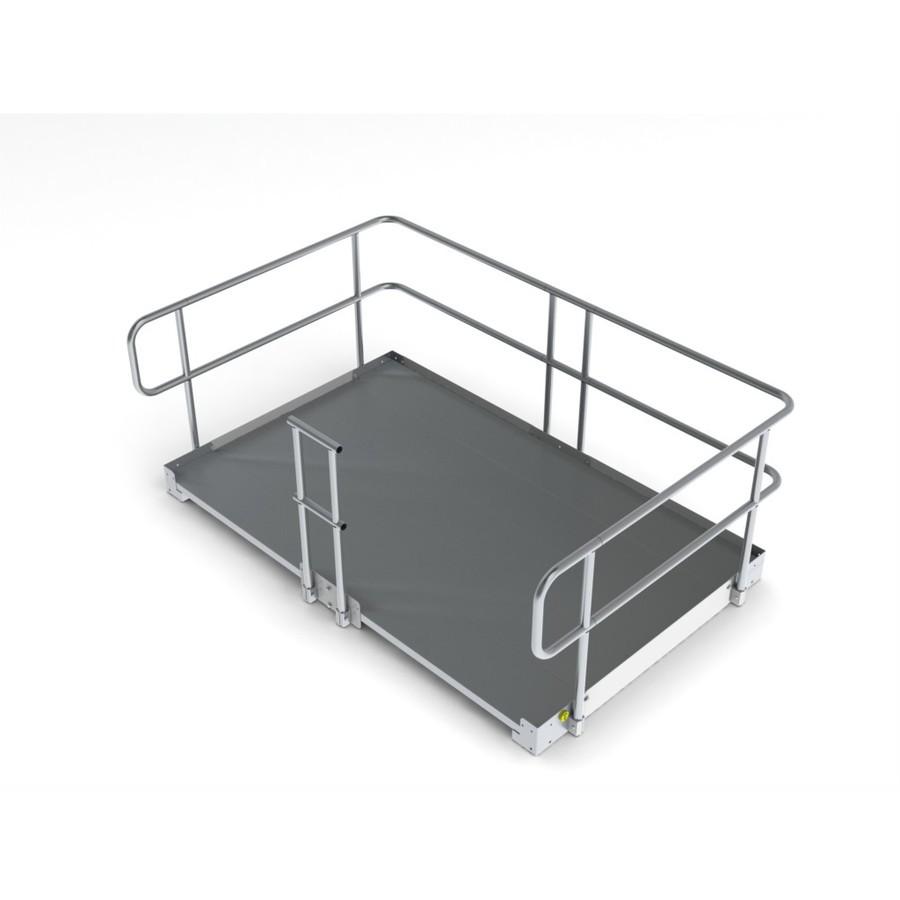shop 8 ft x 60 in aluminum modular entryway wheelchair