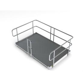 8-ft x 60-in Aluminum Modular Entryway Wheelchair Ramp