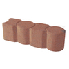 Red Geometric Edging Stone (Common: 3-in x 12-in; Actual: 3.1-in H x 12-in L)