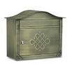 Architectural Mailboxes Peninsula 16.5-in x 13.5-in Metal Antique Brass Lockable Wall Mount Mailbox