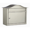 Architectural Mailboxes 16-1/2-in x 13-1/2-in Metal Satin Nickel Lockable Wall Mount Mailbox