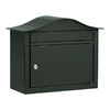 Architectural Mailboxes Lunada 16.5-in x 13.5-in Metal Black Lockable Wall Mount Mailbox