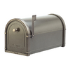 Architectural Mailboxes Coronado 10-in x 11.25-in Metal Bronze with Antique Nickel Post Mount Mailbox