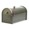 Architectural Mailboxes 10-in x 11-1/4-in Metal Bronze Post Mount Mailbox