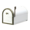 Architectural Mailboxes 10-in x 11-1/4-in Metal White Post Mount Mailbox