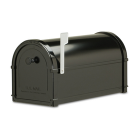 Architectural Mailboxes Bellevue 10-in x 11.3-in Metal Black Post Mount Mailbox