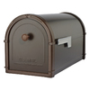 Architectural Mailboxes 10-in x 11-1/4-in Metal Oil-Rubbed Bronze Post Mount Mailbox