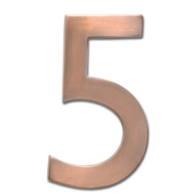 Architectural Mailboxes 4-in Aged Copper House Number 5