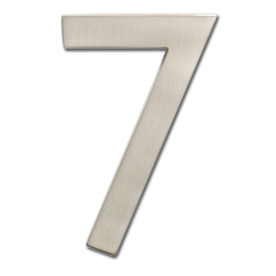 Architectural Mailboxes 4-in Cast Brass House Number Satin Nickel 7