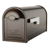 Architectural Mailboxes 6-5/8-in x 8-3/4-in Metal Oil-Rubbed Bronze Post Mount Mailbox